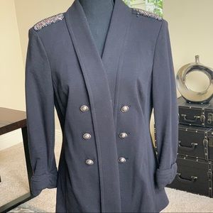 Double-Breasted Jacket with Embellishment